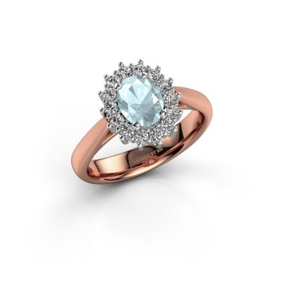 Picture of Engagement ring Margien 1 585 rose gold aquamarine 7x5 mm