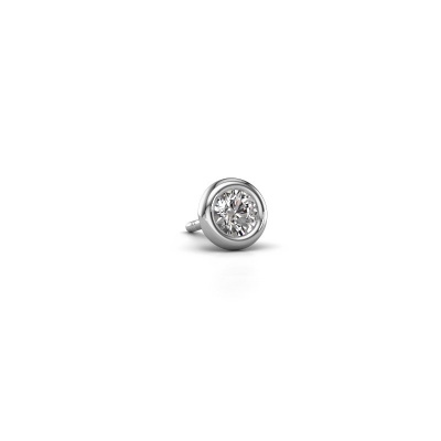Photo de Boucle d'oreille homme Jace 585 or blanc diamant 0.25 crt