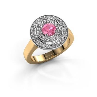 Ring Alecia 1 585 goud roze saffier 5 mm