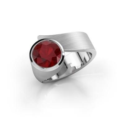 Ring Nakia 950 platina robijn 8 mm
