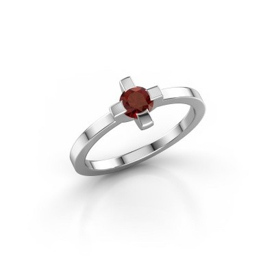Ring Therese 950 platina granaat 4.2 mm