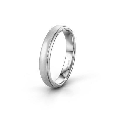 Wedding ring WH0500M34AM 585 white gold ±4x1.7 mm