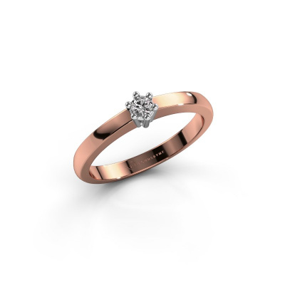 Engagement ring Luna 1 585 rose gold diamond 0.055 crt
