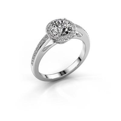 Verlovingsring Aaf 585 witgoud diamant 1.21 crt