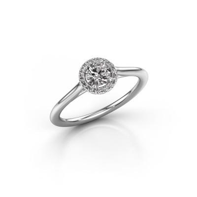 Engagement ring Seline rnd 1 585 white gold diamond 0.394 crt