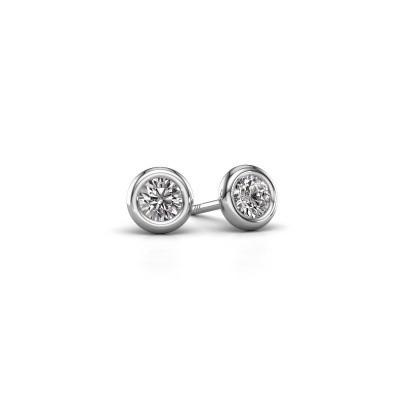 Foto van Oorstekers Lieke RND 585 witgoud diamant 0.50 crt