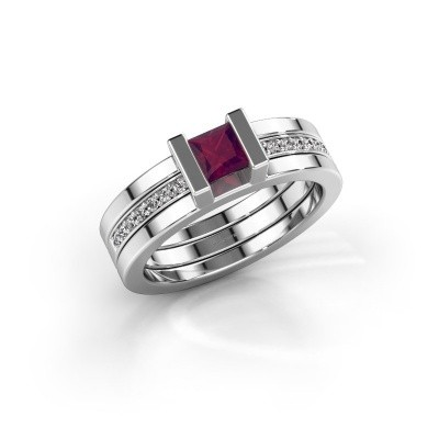 Picture of Ring Desire 925 silver rhodolite 4 mm