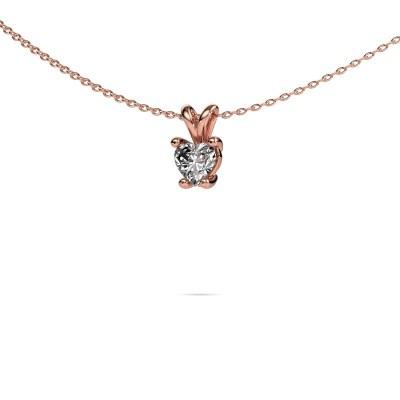 Ketting Sam Heart 375 rosé goud diamant 0.50 crt