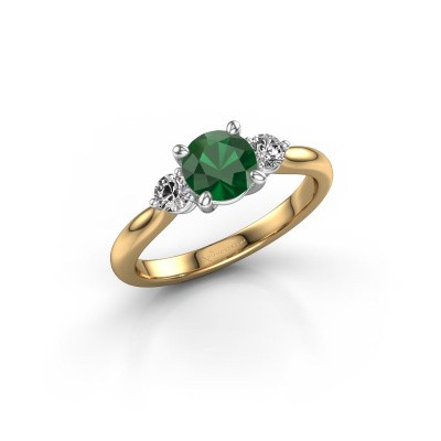 Picture of Engagement ring Lieselot RND 585 gold emerald 6.5 mm