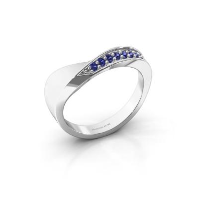 Ring Lynn 925 zilver saffier 1.6 mm