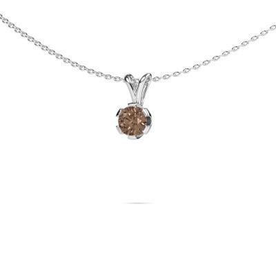 Foto van Ketting Julia 585 witgoud bruine diamant 0.50 crt