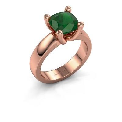 Ring Clelia CUS 585 Roségold Smaragd 8 mm
