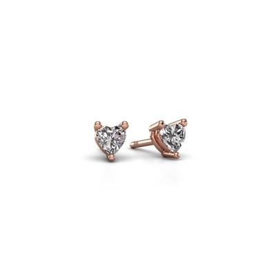 Oorstekers Garnet 375 rosé goud lab-grown diamant 0.50 crt
