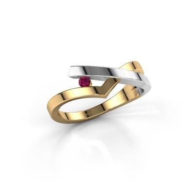 Ring Pamella 585 gold rhodolite 2.2 mm