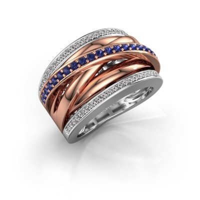 Ring Clair 2 585 witgoud saffier 1.5 mm
