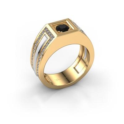 Foto van Heren ring Lando 585 goud zwarte diamant 1.10 crt