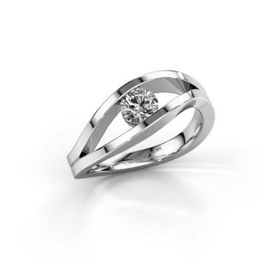 Aanzoeksring Sigrid 1 925 zilver diamant 0.40 crt