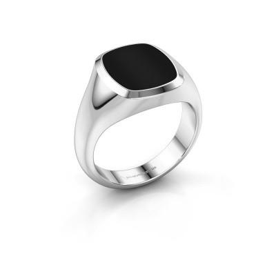 Picture of Signet ring Benjamin 2 950 platinum onyx 13x11 mm