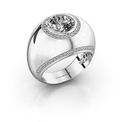 Ring Roxann 925 silver zirconia 8 mm