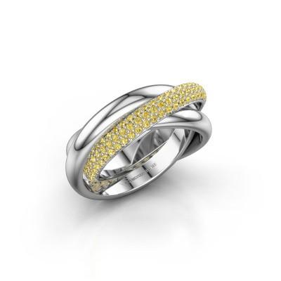 Ring Trinity 2 925 Silber Gelb Saphir 1 mm