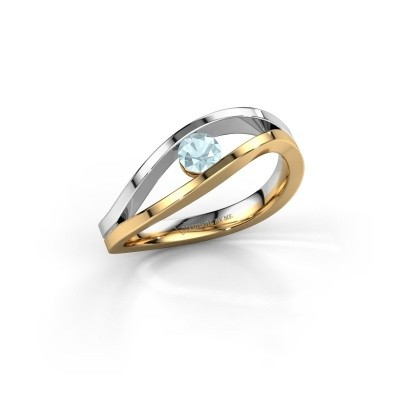 Picture of Engagement ring Sigrid 1 585 gold aquamarine 3.7 mm
