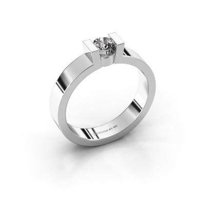 Verlovingsring Lieve 1 925 zilver diamant 0.30 crt