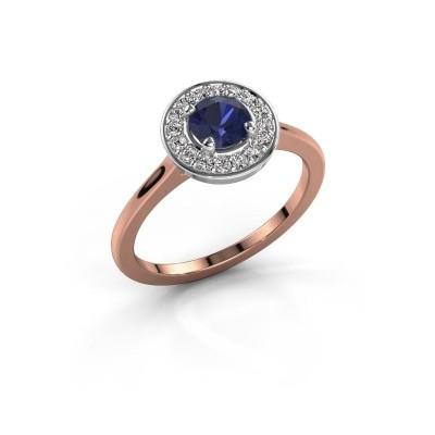 Ring Agaat 1 585 rosé goud saffier 5 mm