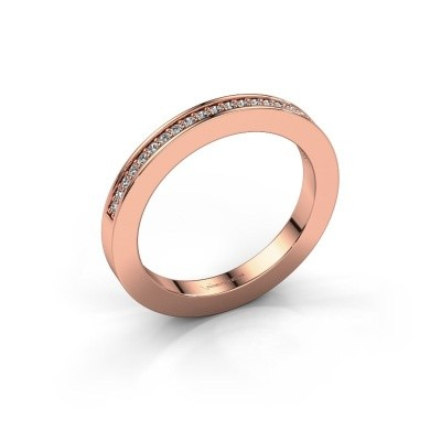Stackable ring Loes 2 375 rose gold diamond 0.147 crt
