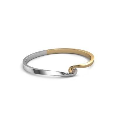 Slavenarmband Sheryl 585 goud rookkwarts 3.7 mm