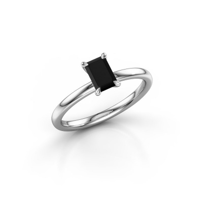 Picture of Engagement ring Crystal EME 1 585 white gold black diamond 0.84 crt