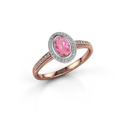 Engagement ring Noud 2 OVL 585 rose gold pink sapphire 6x4 mm