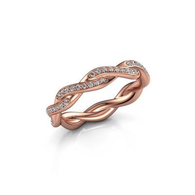 Aanschuifring Swing full 375 rosé goud lab-grown diamant 0.36 crt