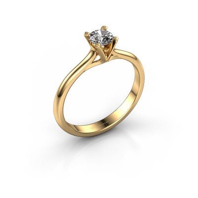 Verlovingsring Isa 1 375 goud diamant 0.30 crt