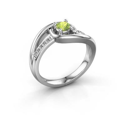 Ring Aylin 925 silver peridot 4 mm