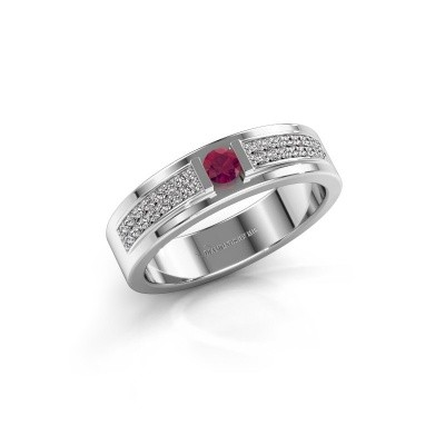 Bague Chanell 585 or blanc rhodolite 3 mm