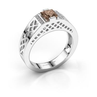 Foto van Heren ring Jonathan 375 witgoud bruine diamant 0.834 crt