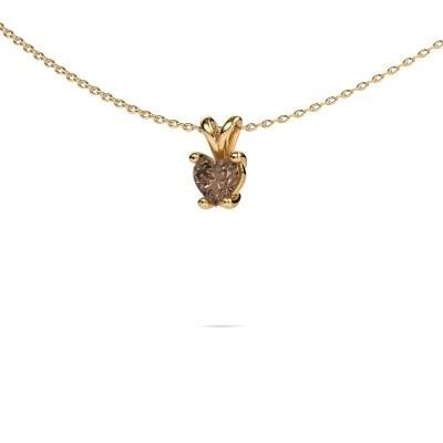 Foto van Ketting Sam Heart 375 goud bruine diamant 0.50 crt