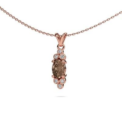 Foto van Hanger Lucy 2 375 rosé goud bruine diamant 0.89 crt