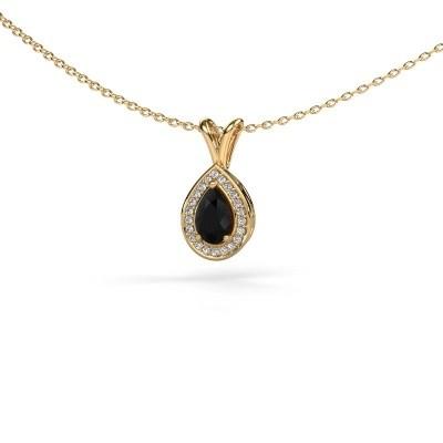 Kette Ginger 375 Gold Schwarz Diamant 0.595 crt