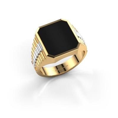 Foto van Rolex stijl ring Brent 3 585 goud onyx 14x12 mm