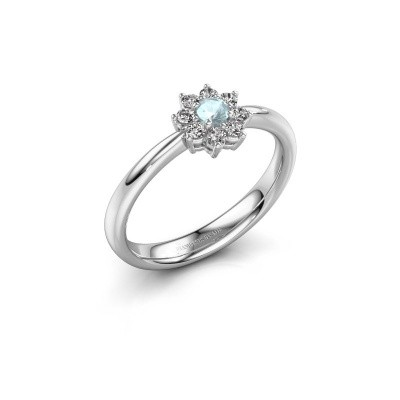 Picture of Engagement ring Camille 1 925 silver aquamarine 3.4 mm