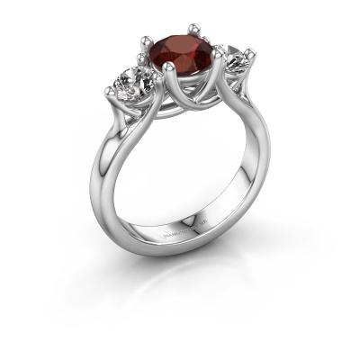 Engagement ring Esila 950 platinum garnet 6.5 mm