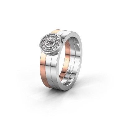 Trouwring WH2102L 585 rosé goud diamant ±6x1.8 mm