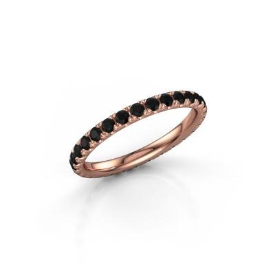 Foto van Aanschuifring Jackie 2.0 375 rosé goud zwarte diamant 1.044 crt