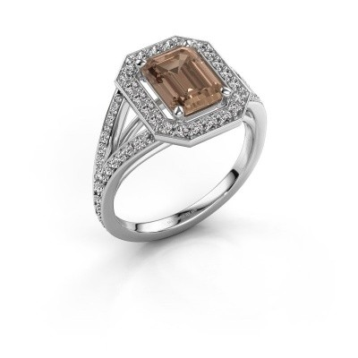 Promise ring Angelita EME 950 platina bruine diamant 2.279 crt