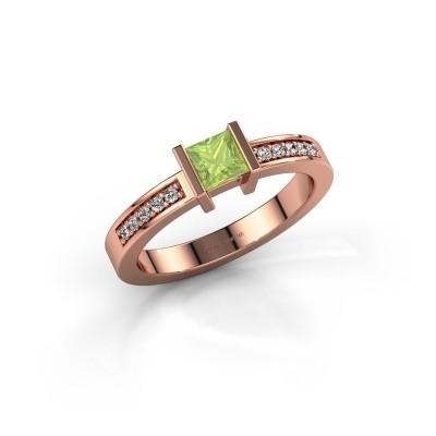 Engagement ring Jordan 375 rose gold peridot 4 mm