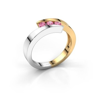 Foto van Ring Gracia 585 goud roze saffier 2.7 mm