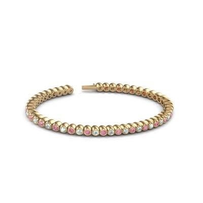 Foto van Tennisarmband Patrica 375 goud roze saffier 2.4 mm