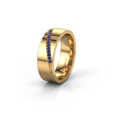 Wedding ring WH2146L17A 585 gold sapphire ±7x1.7 mm