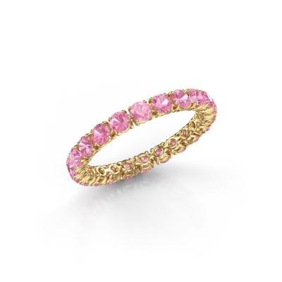 Foto van Ring Vivienne 2.7 375 goud roze saffier 2.7 mm